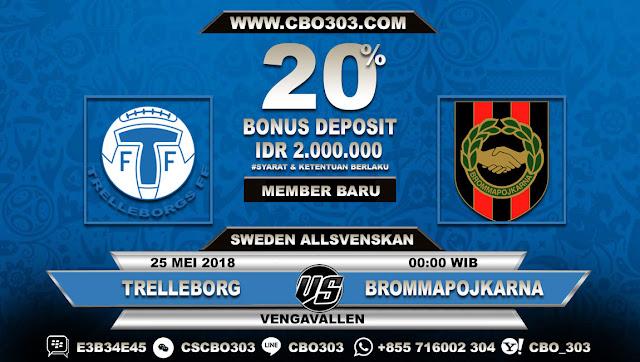 Prediksi Bola Trelleborg VS Brommapojkarna 25 Mei 2018