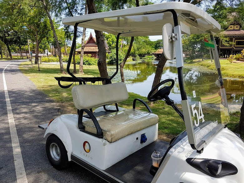 這次承租的電動高爾夫球車