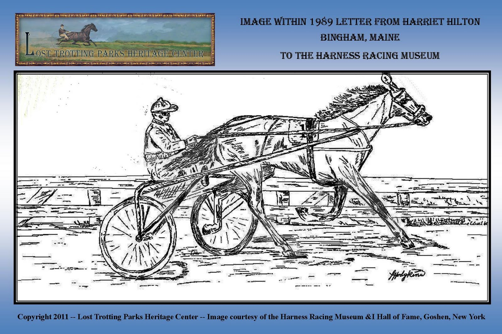 Harriet+Hilton+Bingham+Letters+Storyboards+web1 the lost trotting parks heritage center storyboard archives