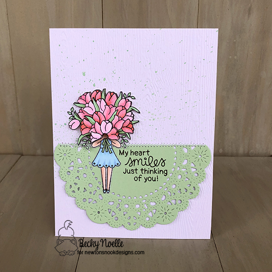 My heart smiles just thinking of you by Becky features Loads of Blooms by Newton's Nook Designs; #newtonsnook