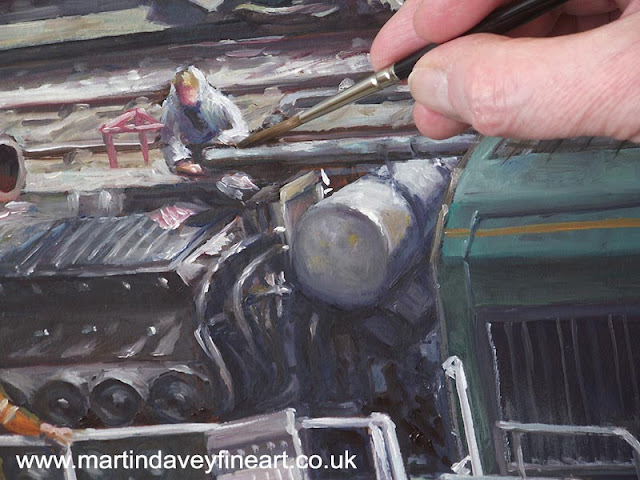 M P Davey class 66 oil painting