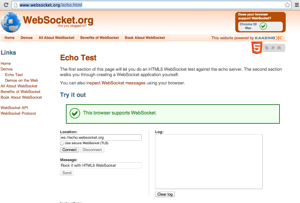 Dinis Cruz Blog: Example of DOM XSS in WebSocket org echo