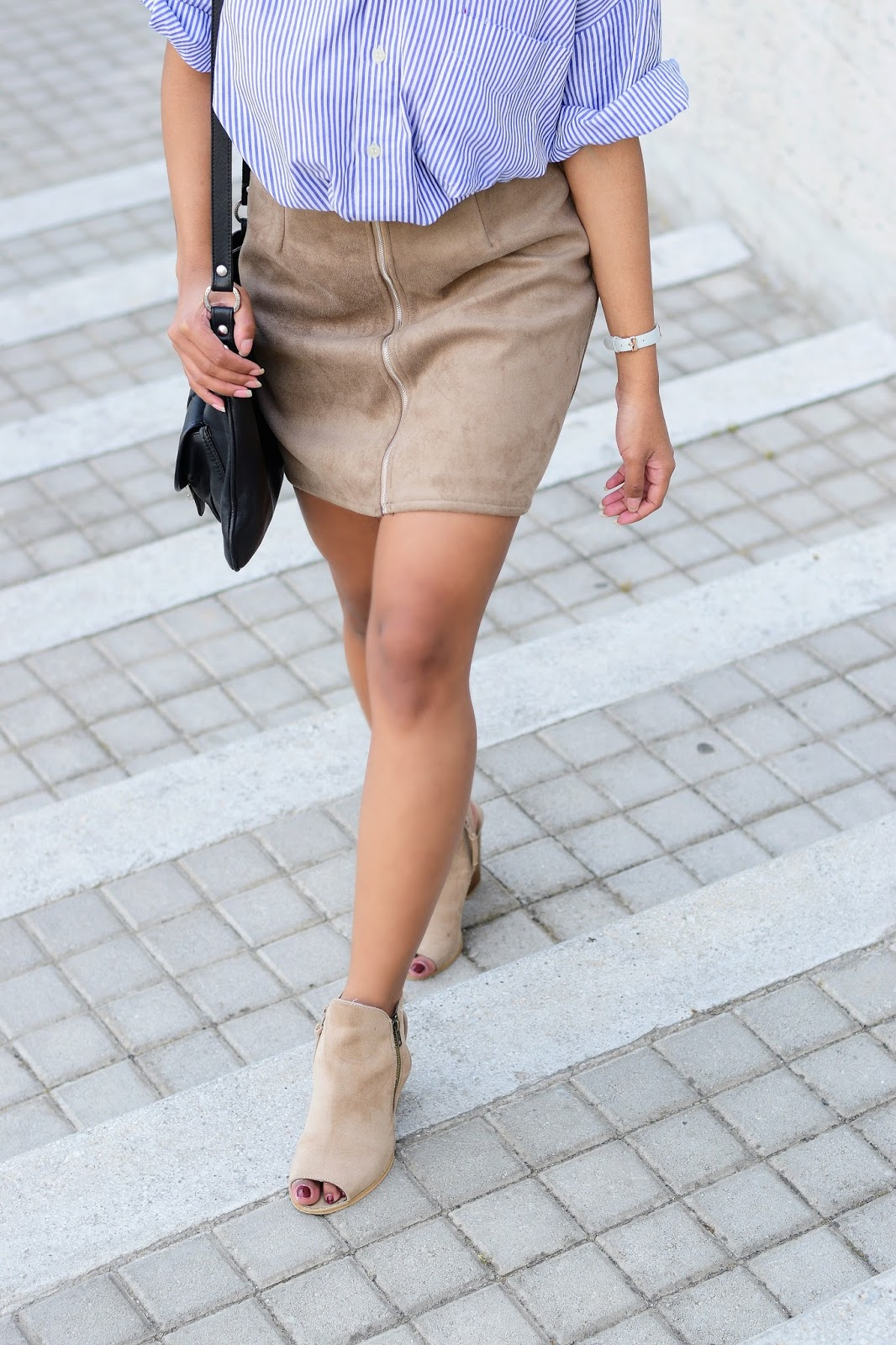 suede skirt outfit inspiration