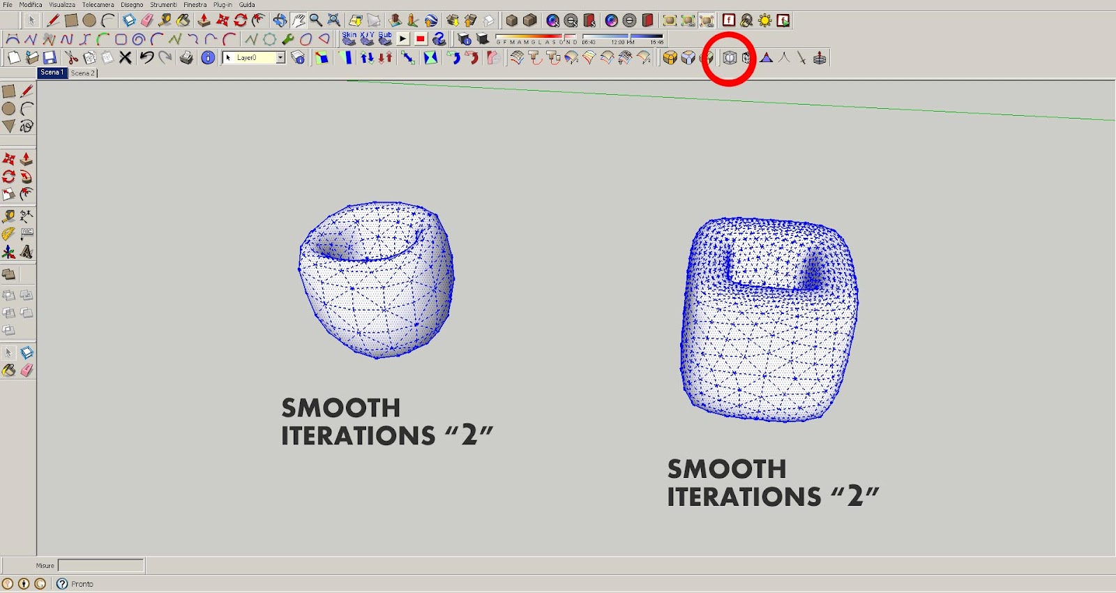 Sketchup Subdivide And Smooth tutorial