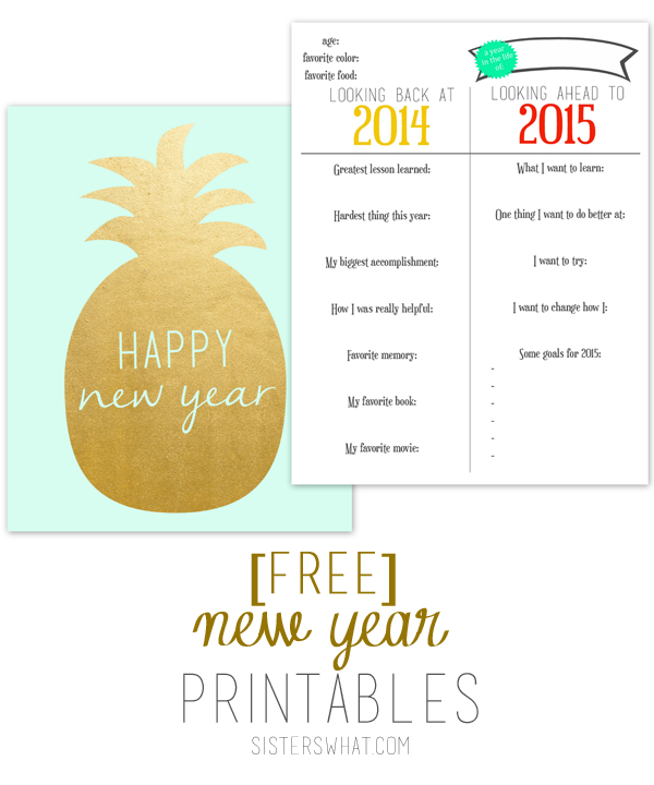 Free New Year Printables