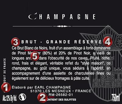 Beaux Vins blog vin etiquette champagne
