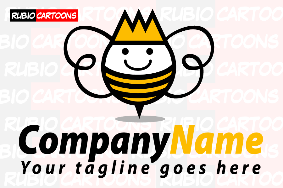 LOGOSTORE: FRIENDLY QUEEN BEE LOGO