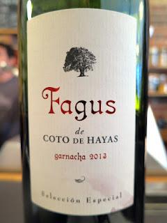 Bodegas Aragonesas Fagus de Coto de Hayas Selección Especial 2013 - DO Campo de Borja, Spain (90 pts)