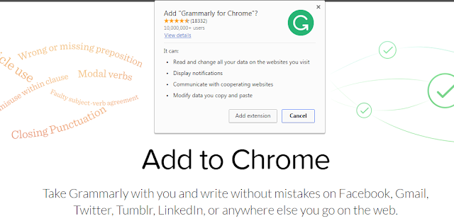 Grammarly free extension