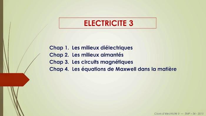 Cours de Electricité 3 SMP Semestre S4 PDF
