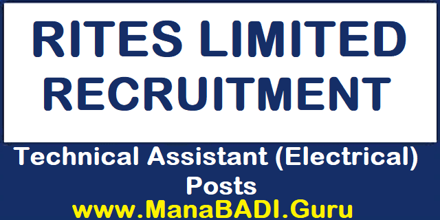 Latest jobs, Engineer Jobs, Technical Assistant Jobs, RITES Recruitment, Electrical Posts, RITES Limited