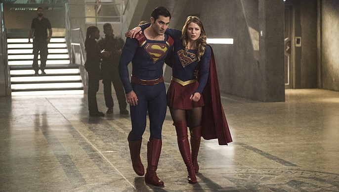 Superman Supergirl Melissa Benoist Tyler Hoechlin The Last Children of Krypton