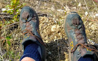 New Balance 703 boot worn during the hike
