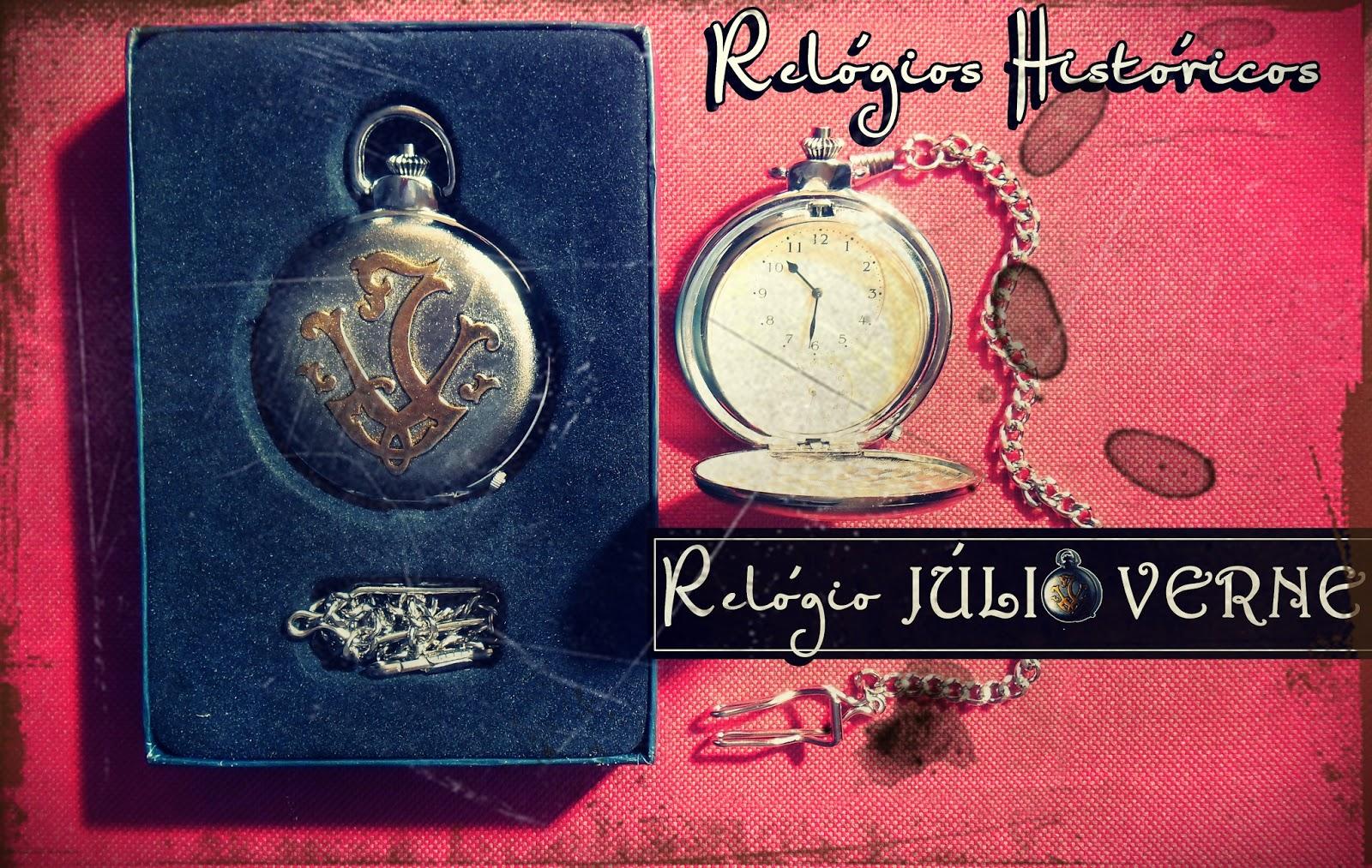 75247d0c597 Coleção Relógios Históricos  Júlio Verne. Um amigo comprou um relógio  histórico de coleção e resolveu me dar de presente pois achou a minha cara.