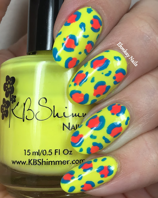 ehmkay nails: KBShimmer Neon Leopard Print Nail Art