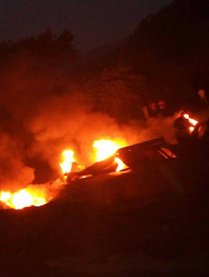 Tanker driver burns to death in an accident