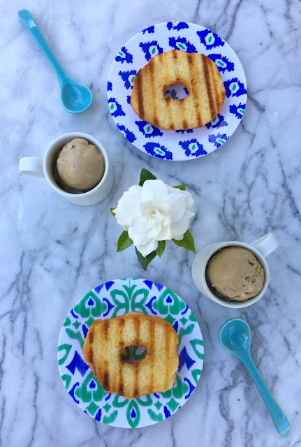 Grilled Donuts and Coffee Ice Cream - Perfect Father's Day or Summer Dessert | www.jacolynmurphy.com