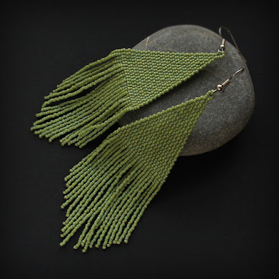 купить бохо украшения ручной работы большие сережки из бисера