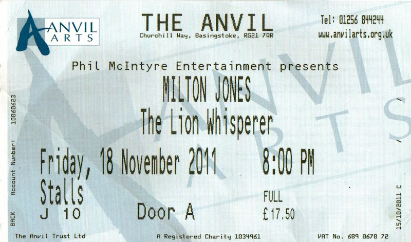 Sounds and Motions: Milton Jones - Lion Whisperer