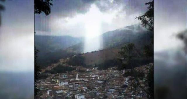 imagen de cristo que aparece en el cielo colombiano
