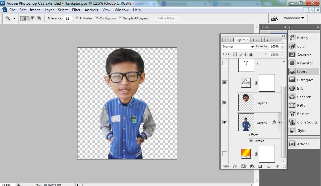 Cara Membuat Karikatur Sederhana dengan Photoshop - SUMAR BLOG