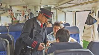 Проверка билетов на поезде в Германии