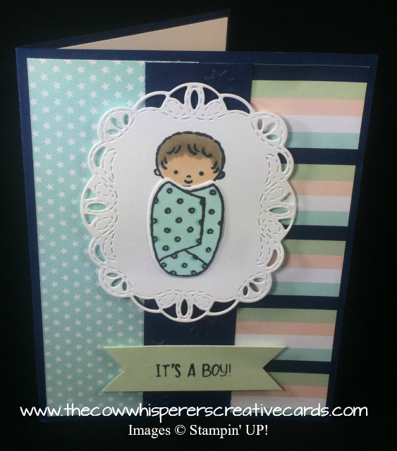 Card, Sweet Baby, Stitched Seasons Framelits, Baby Boy, Baby Girl