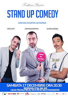 Stand-Up Comedy Sambata 17 decembrie Bucuresti
