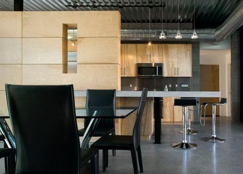dapur rumah industrial