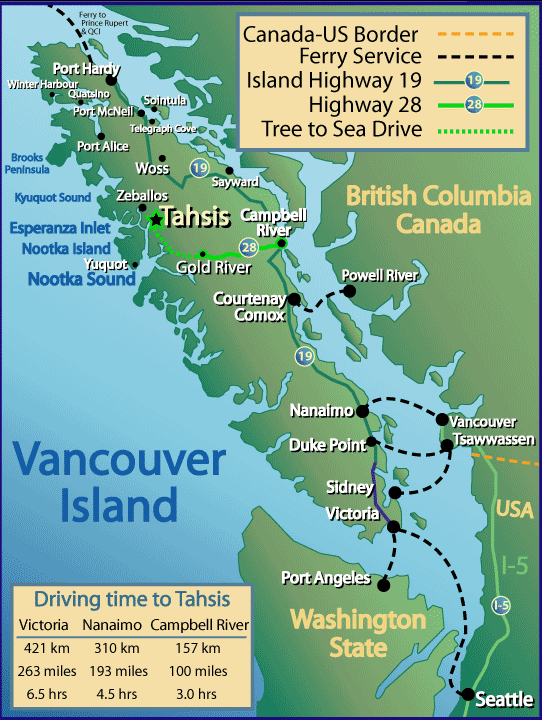 Vancouver Island Ferry Map