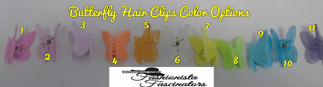 yellow butterfly hair clips Nairobi Kenya