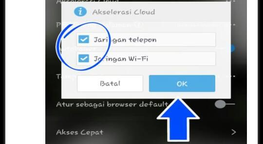 notifikasi tentang akselerasi cloud