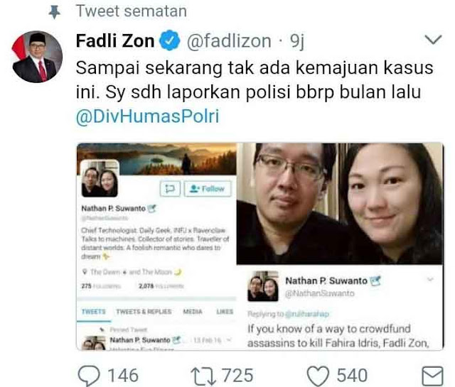 Fadli Zon Pertanyakan Kenapa Buzzer Istana Penyebar Hoax dan Ujaran Kebecian yang Tak Tersentuh Hukum?