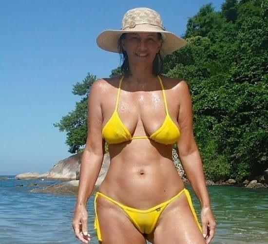 Mature bikini moms