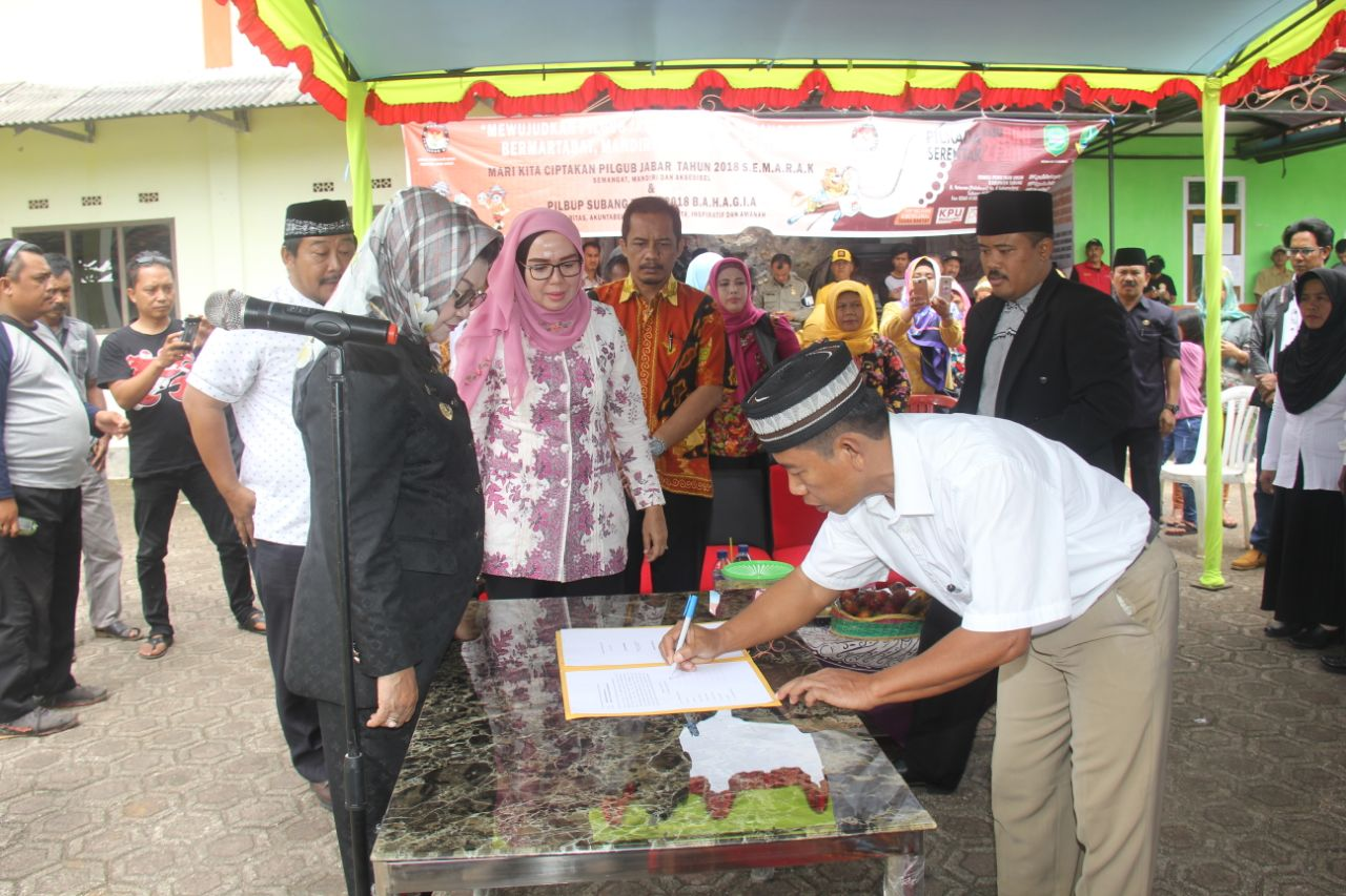 Bupati Imas Meresmikan Kepengurusan BPD Desa Ponggang, Sagalaherang