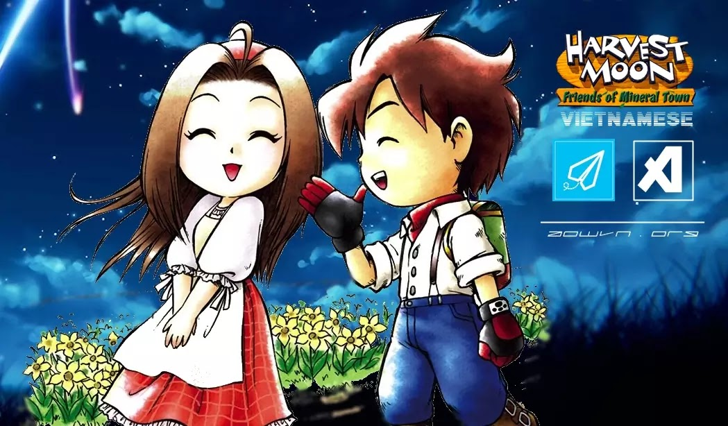 Harvest Moon AowVN.org m%2B%25285%2529 - [ GBA ] Harvest Moon Friend of Mineral Town + More Friend | Game Việt Hóa