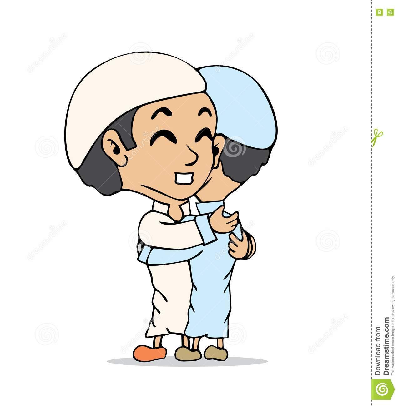 Kumpulan Animasi Muslimah Lebaran