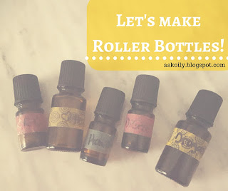 how to make roller bottles with essential oils | Hot Pink Crunch