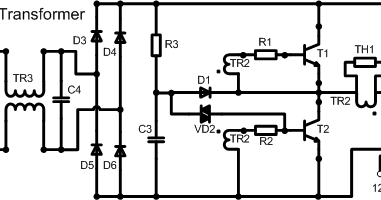 Cycloflow: Circuit ysis of typical electronic transformer on