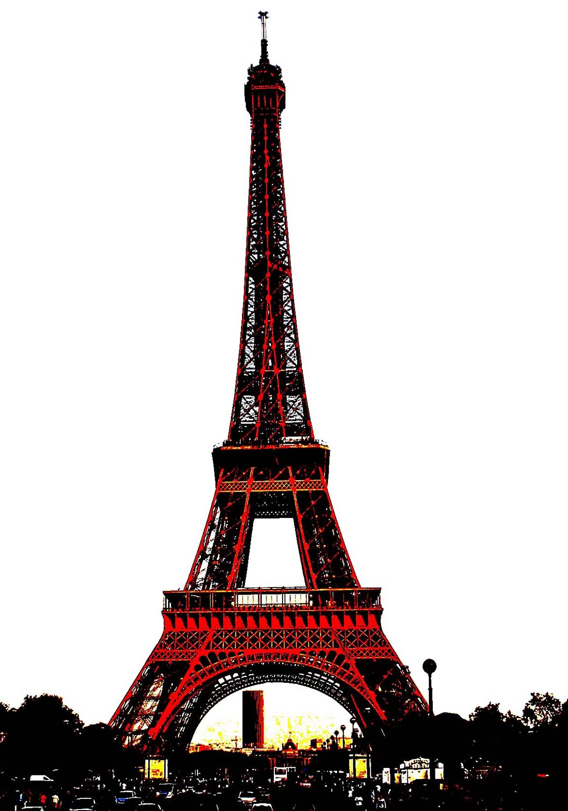 Stock Pictures: Eiffel Tower sketches and silhouettes