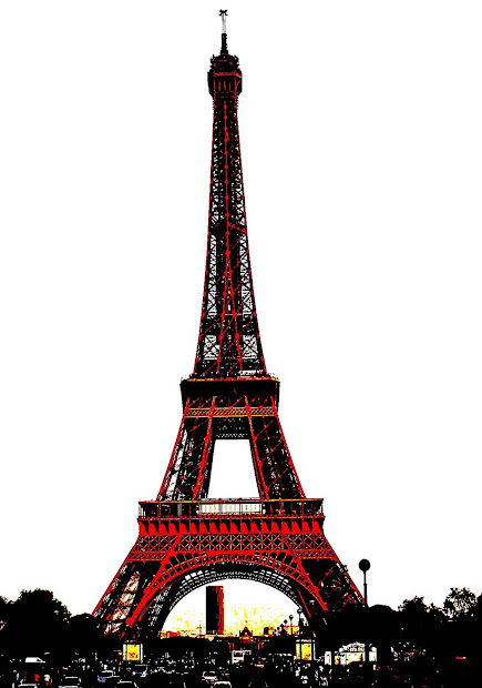 Stock Eiffel Tower Sketches And Silhouettes