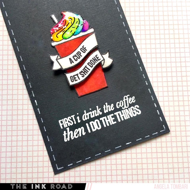 Mug Life bookmark by Angela Tombari for The Ink Road Stamps 04