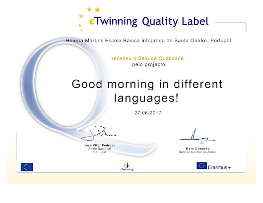 "eTwinning project ""Good morning in different languages!"" - 5G"