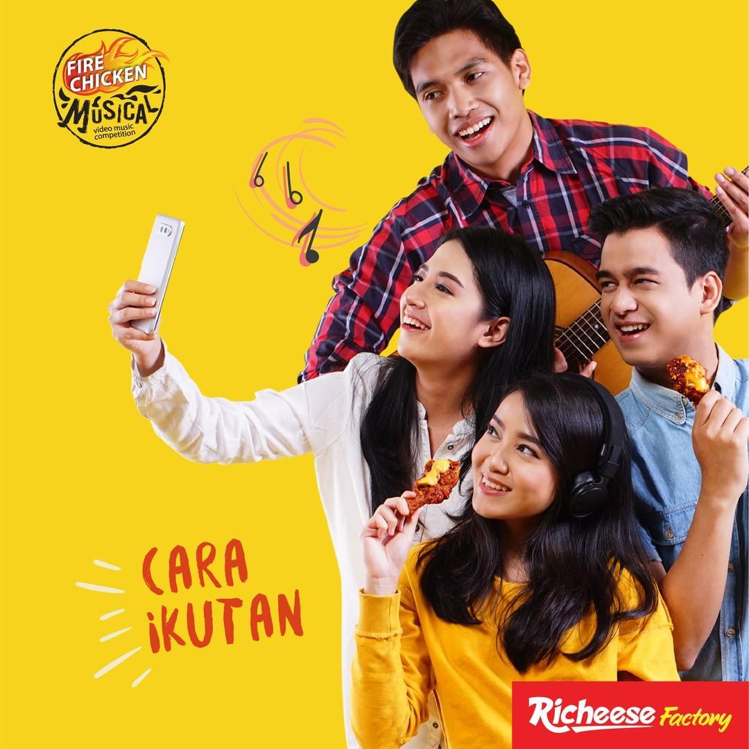 Richeese Factory - Kontes Fire Chicken Musical Video Dapat Hadiah Menarik (s.d 20 Sept 2018)