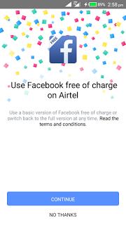 Facebook App free mode