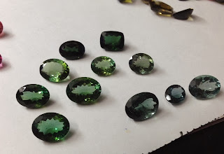 Different shades of Green Tourmaline