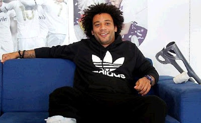 Marcelo injured attending the Real Madrid media