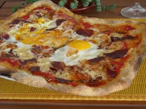 Receta pizza jamon serrano