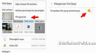 setting hidden file di android