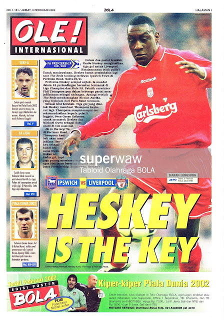 HESKEY IS THE KEY LIVERPOOL MAGAZINE